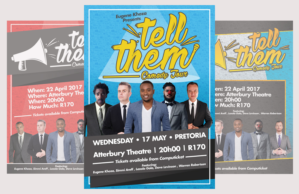Tell Them Comedy Tour Posters